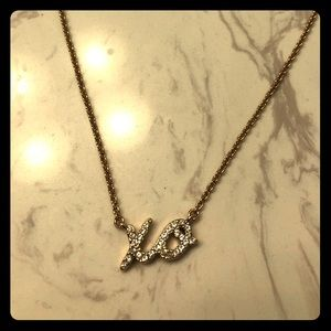 Kate Spade gold and cz XO necklace!